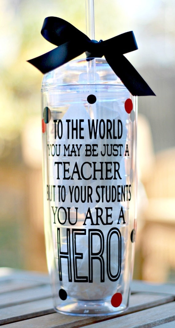 Personalized Teacher Tumbler End Of Year Teacher Gift