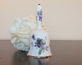 Hammersley Bone China Bell in the Victorian Violets Pattern