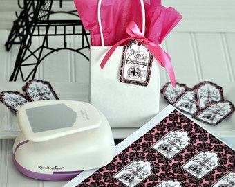 Paris Gift Tag Labels, DIY Paris Gift Tags, Paris Birthday Decorations, Paris Birthday