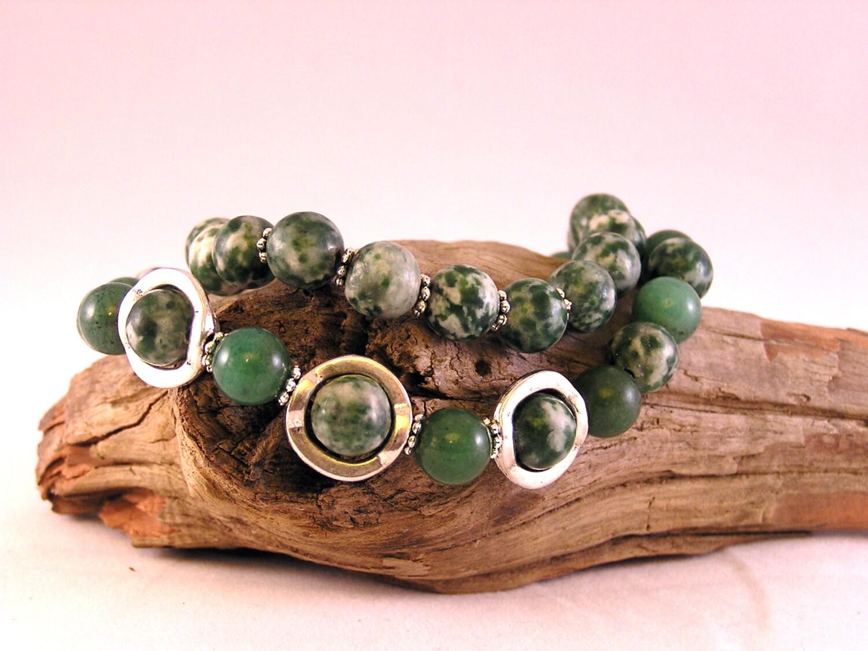 Tree Agate Bracelet Stone Bead Bracelet Stacking Bracelets
