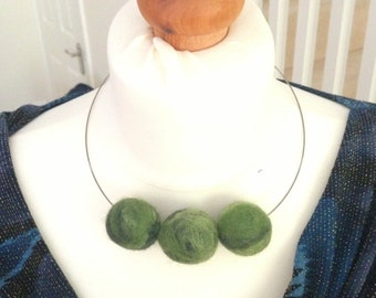 Unique needle felted handmade Necklace