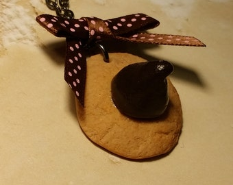 Chocolate Kiss Cookie Necklace