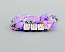 Matching mother daughter bracelet set. Personalized Mom daughter jewelry. Mom charm bracelet Birthday gift idea Mom Friendship bracelet set.