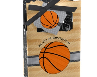 Basketball  Favor Boxes - Custom Baby Shower and Birthday Party Supplies - Set of 12