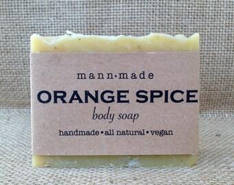Orange Spice Soap, All Natural, Vegan, made with 100% Essential Oils & Ground Clove