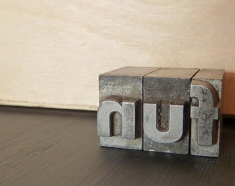 fun - Small Metal Letterpress Type