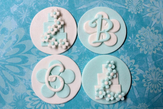 12 stacked dummy cake edible fondant cupcake cookie toppers bridal ...
