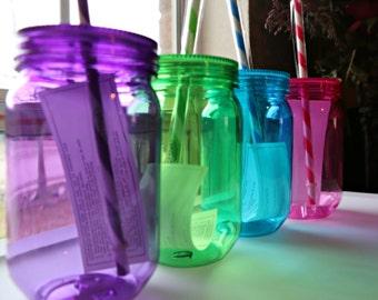 Mason Jar Acrylic Cups 4 pk