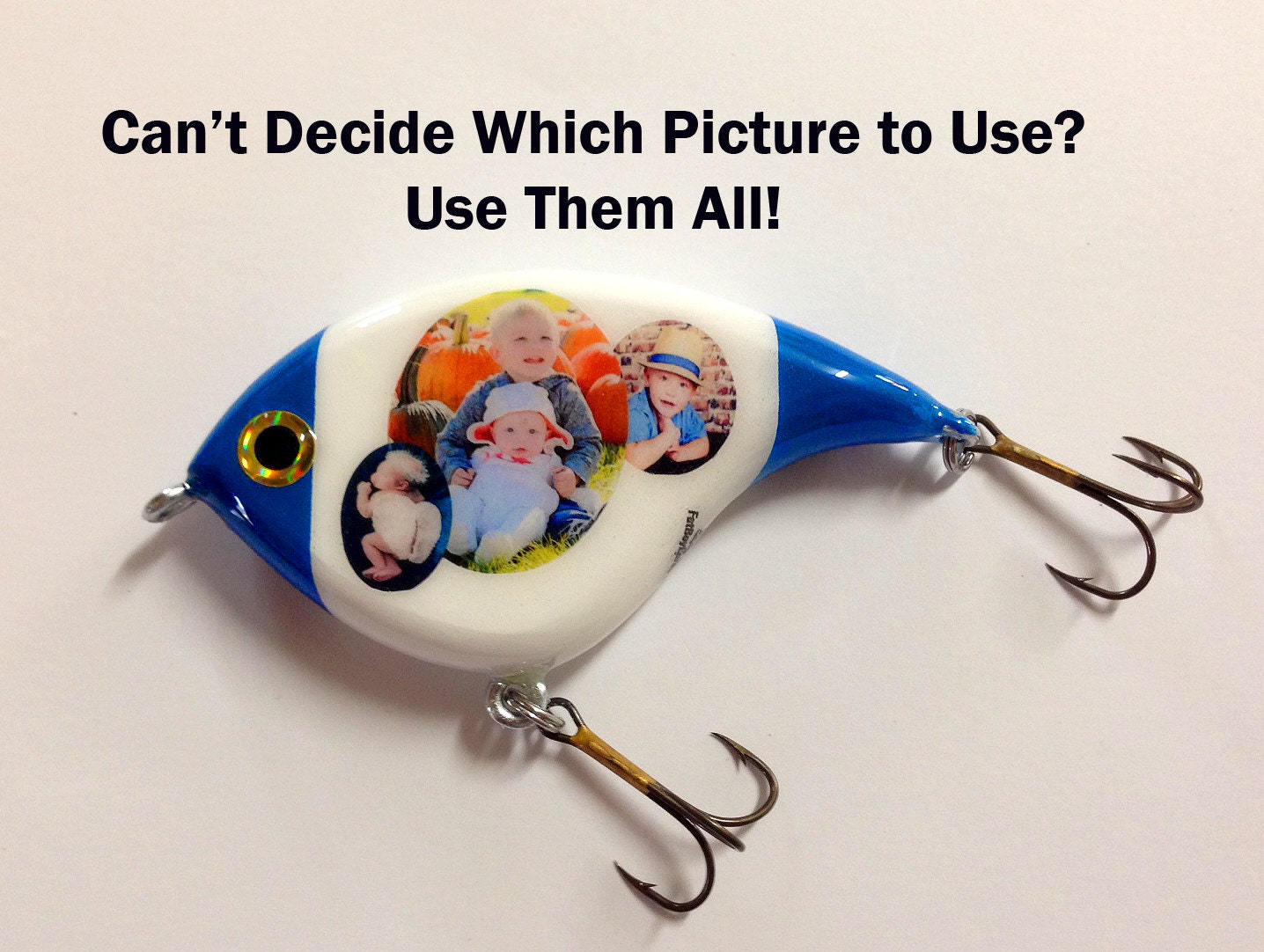 Personalized 5 custom fishing lure perfect gift by fatboylures for Personalized fishing lures