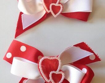 Valentine Toddler Heart Bow