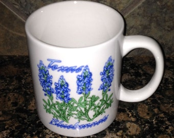 Texas Blue Bonnet Coffee Cup Candle You Choose Your Scent and Color!