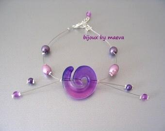 purple costume jewelry pearl bracelet and pearl beads twisted purple