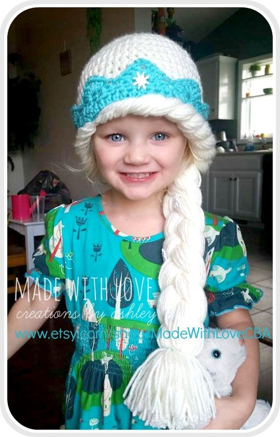 Crochet Elsa Hair Hat : Crochet Queen Elsa Frozen Inspired Hat by MadeWithLoveCba on Etsy