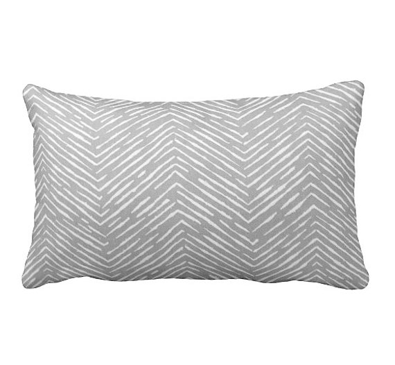 7 Sizes Available: Grey Throw Pillow Cover by ReedFeatherStraw