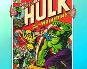 The Incrediable Hulk Wolverine Comic Cover- Art Print / Poster / Cool Art - Any Size