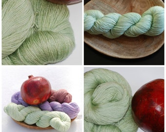 Spring Green  Bamboo/Silk/Merino Sock Yarn