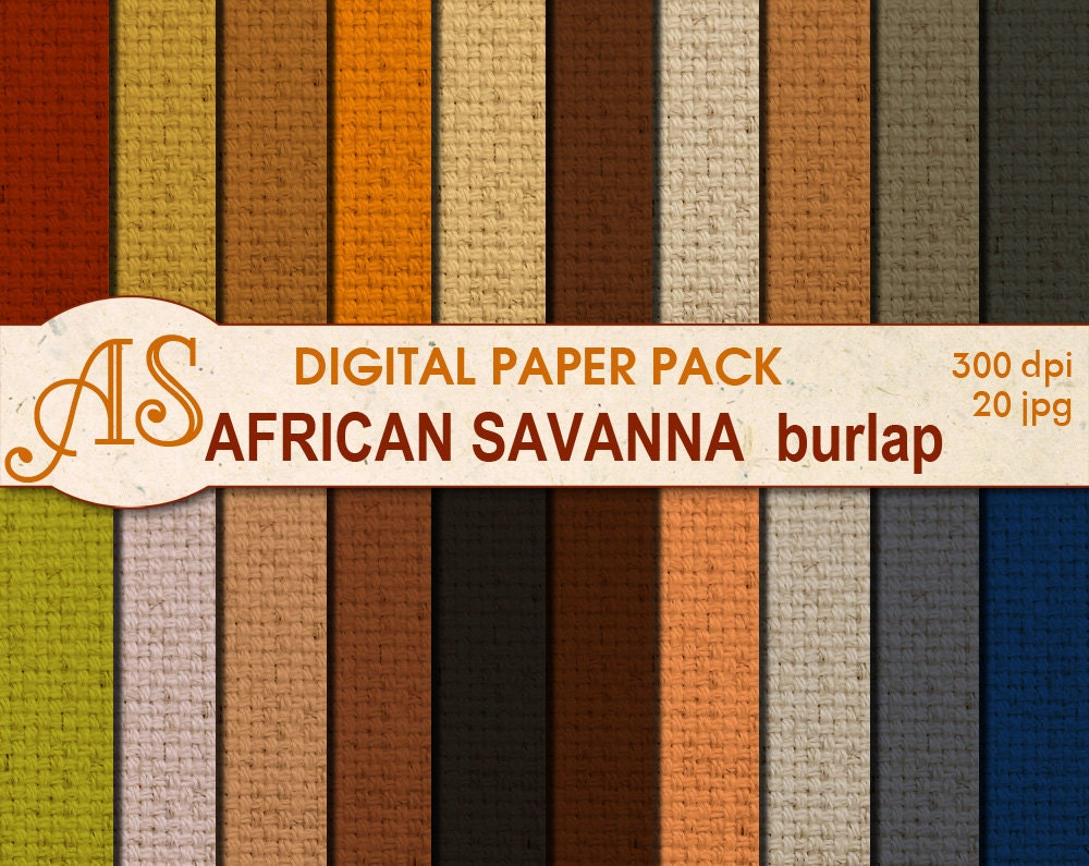 image about Printable Burlap Paper referred to as Electronic Savanna Coloration Burlap Paper Pack 20 Printable - Www