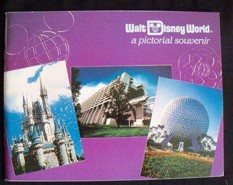 """Vintage Disney  1983 Walt Disney World  """"A Pictorial Souvenir Book"""" - 68 pages"""