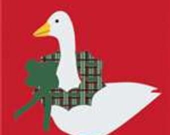 Goose Handcrafted Applique Garden Flag