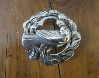 Vintage Sterling Viking Craft? Dove Brooch