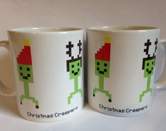 Christmas Creeper Minecraft Inspired Mug
