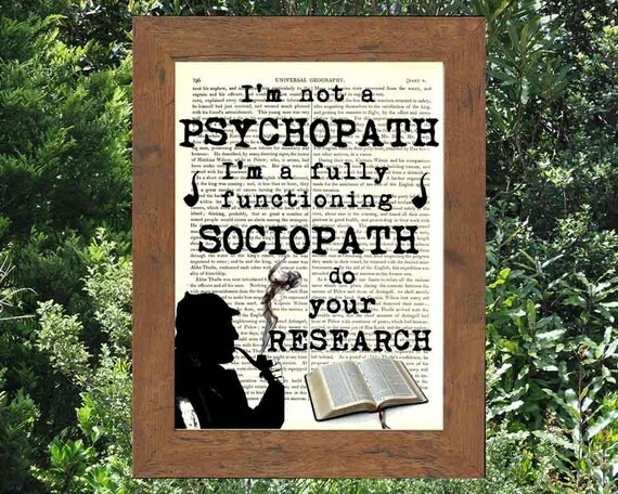 sociopath research paper The criminal justice research paper profiling sociopaths here is another good sample of criminal justice research papers we handle find more samples here.