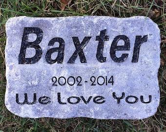 "Cat gave marker heavy duty 6""x9"" stone memorial"