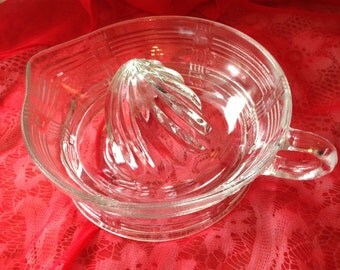Vintage Glass Hand Juicer 8 inches in diameter