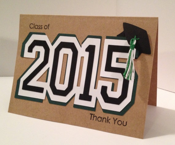 Graduation Thank You Cards: Graduation Thank You Cards. Handmade Stylish Unique By