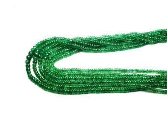 30% off AAA quality Natural EMERALD zambian faceted \ 16 inch strand approx