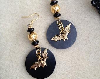 Bat in the Night Earrings