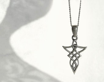 Celtic Necklace, Sterling Silver Necklace, Celtic Style Pendant, Charm Sterling Silver Jewelry in Atigga Shop