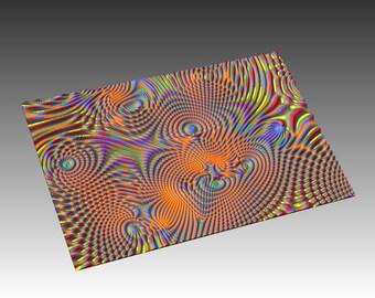 Decorative abstract 3D relief op-art sculpture model for CNC machining Flow 7696