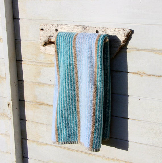 Driftwood Towel Holder For Hand Towel For A Beach Themed