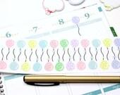 22 Pastel Polka Dot Balloon Stickers! For your Erin Condren Life Planner, Filofax, Kikkik, PlumPaper & other planner,scrapbooking! #SQ00115