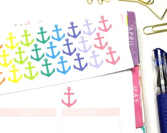 30 Colorful Anchor stickers! Perfect for your planner! #SQ00580