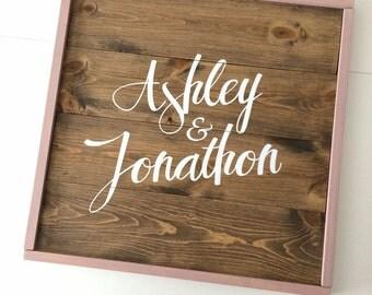 Wood guest book, rustic guestbook, guest book alternative, blush wedding, guestbook