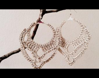 Champagne Crochet Earrings