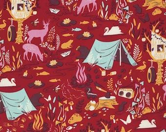 Tula Pink Moonshine Forest Frivolty-Strawberry 1 Yard Listing Cotton