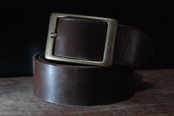 mens leather belt brown leather belt grain by