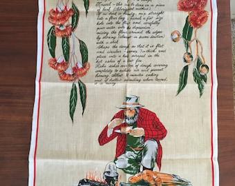 Vintage Damper-Bread of the Bush Tea Towel