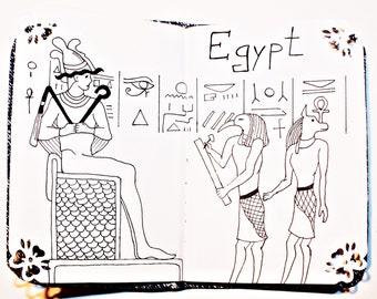 Mini Notebook Egypt, Agenda/Planner/Diary/Journal/Organizer/Note/Pocket notebook