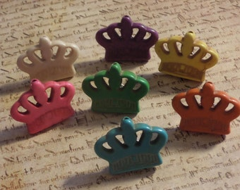 Howlite Crown Princess Push Pins