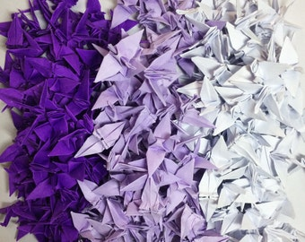 Origami Cranes 1000 Purple Origami Paper Cranes Paper Crane Origami Crane 3.81 cm 1.5 inches Japanese Wedding Finished Origami