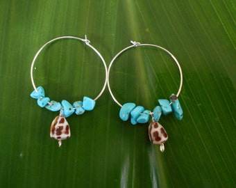 Baby Blue Cone Hoops