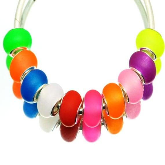 2x mix colorful silica gel big bead fit european
