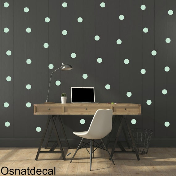 FREE SHIPPING Wall Decal Dots Mint  Color .Larg Kit Contains: 208 . Wall Decal . Home Decor. Nursery Wall Decal Sticker Art Digital