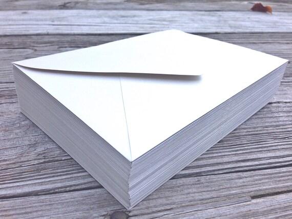 Wedding Invitation Outer Envelope: 50 A7.5 White Outer Invitation Envelopes 5x7 Wedding