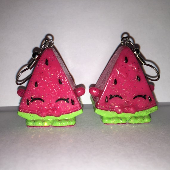 shopkins earrings shopkins foodie earrings melonie pips glitter made with 5216