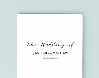 Wedding Program Template | Instant Download | DIY | Black calligrapy